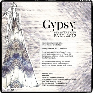 Gypsy Fall 2013 Preview - LO RES